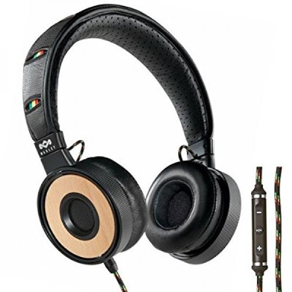HOUSE OF MARLEY EM-FH023-HA Redemption Song(TM) Harvest On-Ear Headphones with 3-Button Microphone