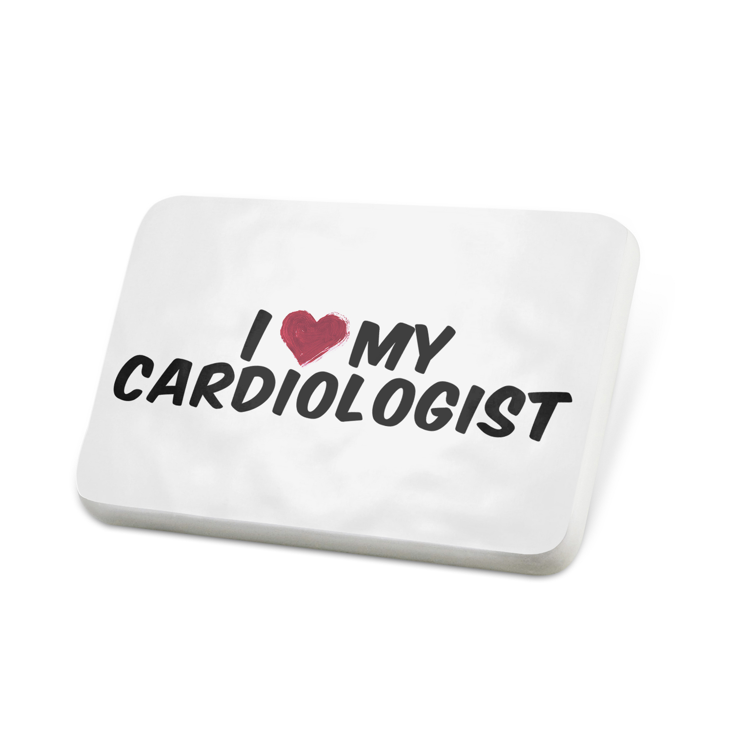 Porcelein Pin I heart love my Cardiologist Lapel Badge – NEONBLOND