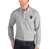 Real Salt Lake Antigua Structure Button-Down Long Sleeve Shirt - Silver/White