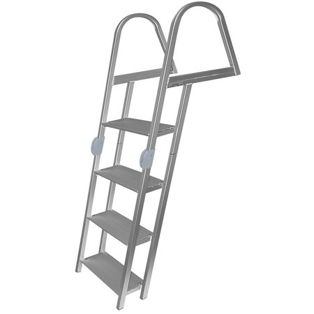 JIF Ladder 4 Step Angled Folding Dock Ladder - ERR4