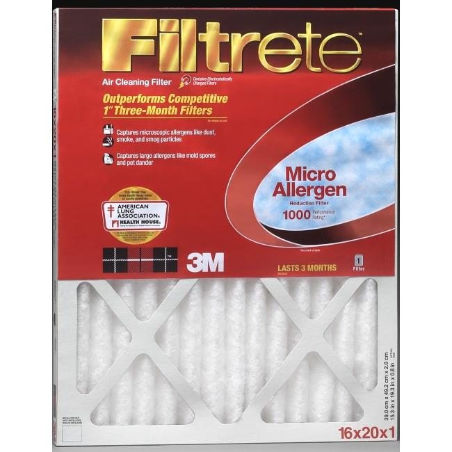 Filtrete MA15X20 1000 Filter,  Pack Of 2