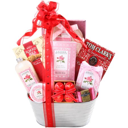 Alder Creek Sweet Scents of Love Valentine Gift Basket, 11 pc