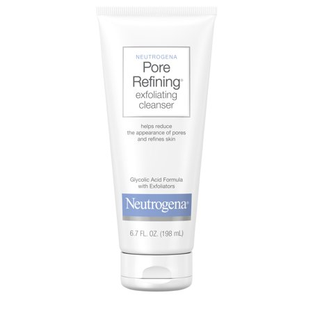 - Neutrogena Pore Refining Exfoliating Daily Facial Cleanser, 6.7 fl. oz