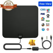 Auchen Digital TV Antenna Indoor 110 Miles Range | Upgraded 2019 Newest 4K HD VHF UHF Freeview for Life Local Channels Broadcast for All Types of Home Smart Television Indoor | Never Pay Cable Fee