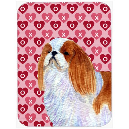 - Caroline's Treasures Valentine Hearts English Toy Spaniel Hearts Love and Valentine's Day Glass Cutting Board