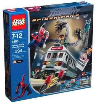 Spider-Man 2 Spider-Man's Train Rescue Set LEGO 4855