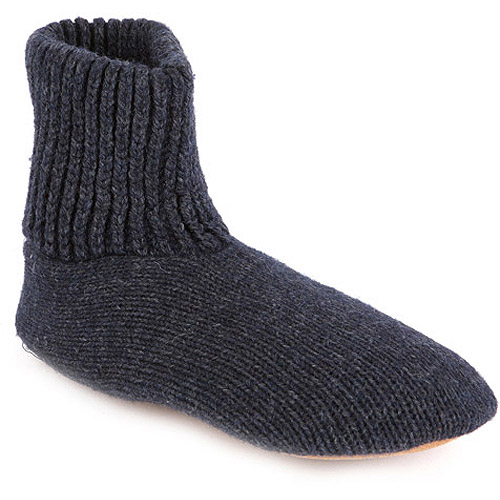 MUK LUKS Morty - Menu0026#39;s Ragg Wool Slipper Sock - Walmart.com
