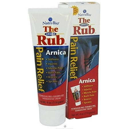 Natra-Bio The Rub Pain Relief Arnica Cream, 4 Oz