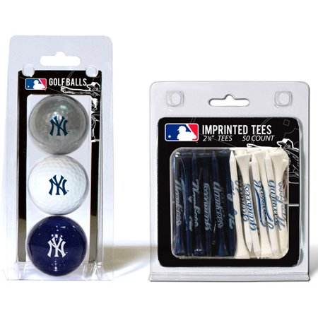 Team Golf MLB New York Yankees 3 Golf Balls And 50 Golf Tees