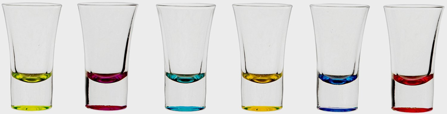CIrcleware Conquer Multi-Color Party Shot Glasses 6 Piece by Circleware
