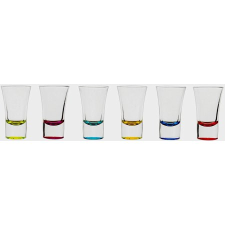 CIrcleware Conquer Multi-Color Party Shot Glasses 6 Piece - Shot Glass Desserts