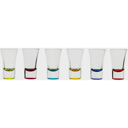 Custom Shot Glasses Bulk (CIrcleware Conquer Multi-Color Party Shot Glasses 6)
