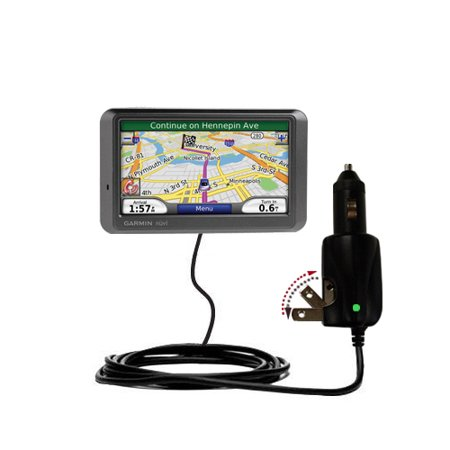 Intelligent Dual Purpose DC Vehicle and AC Home Wall Charger suitable for the Garmin Nuvi 760 760T - Two critical functions, one unique charger - Uses