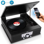 PyleHome PTT25UBT - Vintage Classic-Style Turntable Vinyl Record Player with USB/MP3 Computer Recording Ability