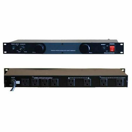 Gem Sound GL99 Dual Lights W/light Dimmer Control, 8 Ac Outletrack Mountable 15amp Circuit Breaker 15 V Light Control Circuit