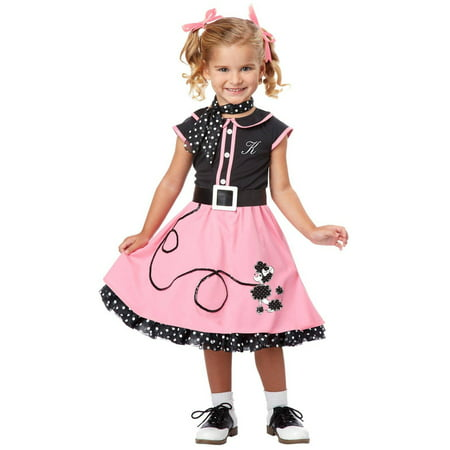 50's Poodle Cutie Toddler Halloween Costume, 3T-4T](50's Diner Waitress Halloween Costume)