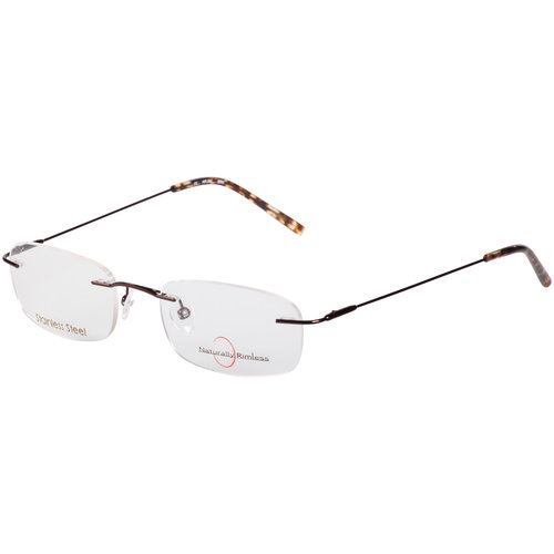 s naturally rimless stainless steel eyeglass frames