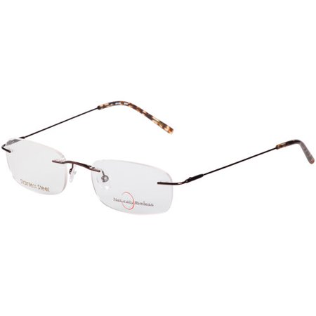 Average Eyeglass Frame Size : Womens Naturally Rimless Stainless Steel Eyeglass Frames ...