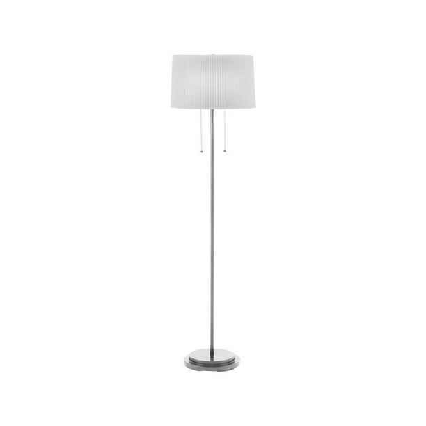 Brushed Steel Dual Light Floor Lamp - Walmart.com ...