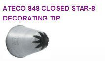 Closed Star Cake / Cupcake Decorating Round Tip #848