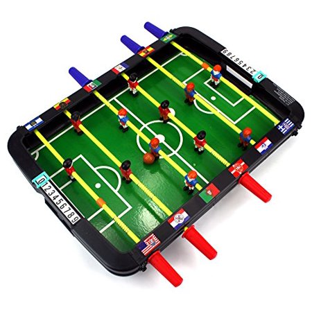 Classic World Cup Soccer Foosball Novelty Table Top Arcade Game Toy Playset (Voit Table Top Foosball Game)