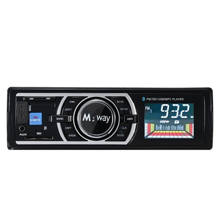 Large-screen LCD Bluetooth Car Stereo Radio Car MP3 Phone Music Player FM USB/SD/MMC Hand Free Calls In-Dash Single Din USB/AUX with Microphone +Wireless Remote Control