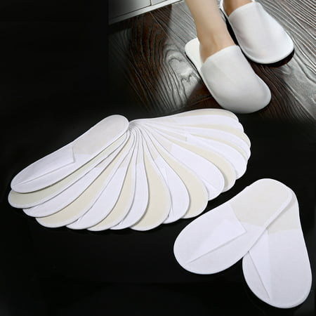 Spat Shoes (Dilwe 10 Pairs/Lot Disposable Guest Slippers Travel Hotel Slippers SPA Slipper Shoes Comfortable New, Hotel Slippers, Disposable)
