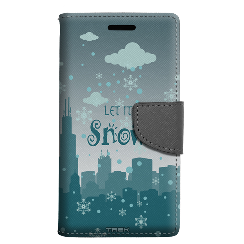 ZTE Fanfare Wallet Case - Let it Snow City Wide Case