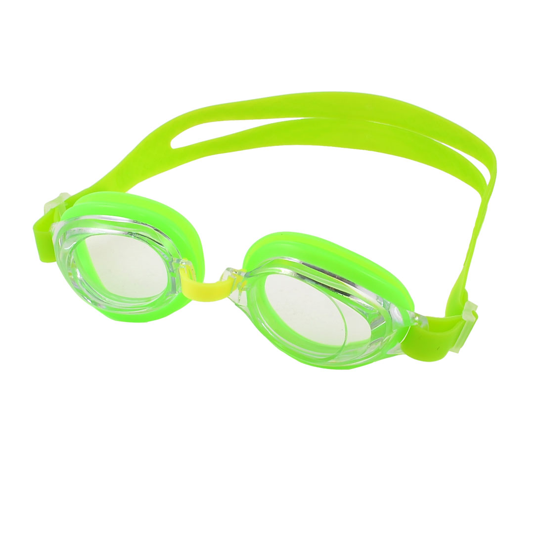 Unique Bargains Silicone Strap Clear Lens Water Sports Glasses Green Swim Goggles For Children by