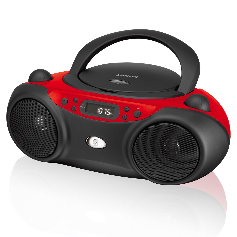 Blackweb Boombox with Bluetooth, CD and FM Radio