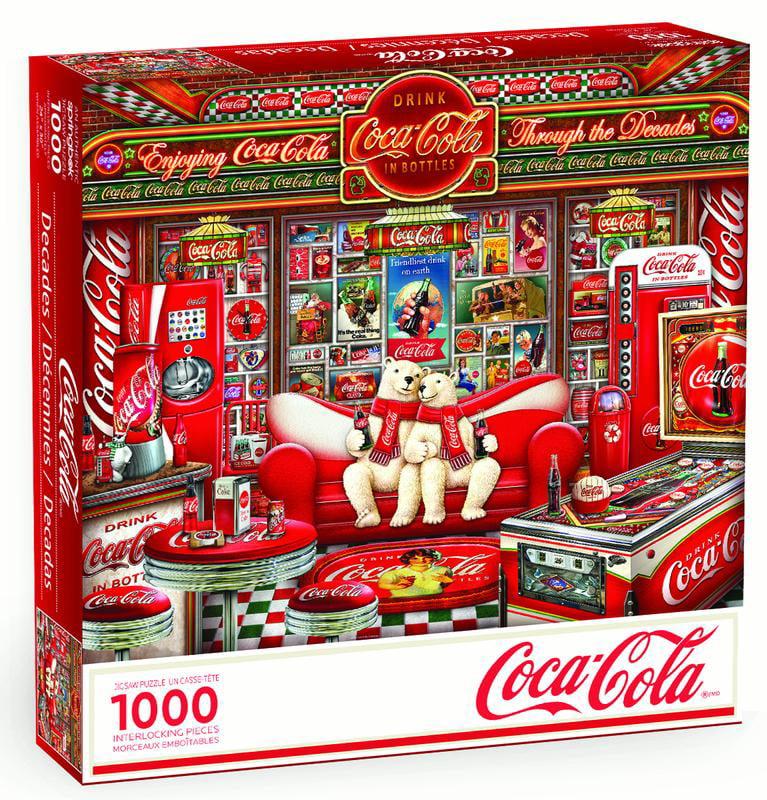 Coca Cola Decades Collector Polar Bears 1000pc Jigsaw Puzzle Springbok 33-10880