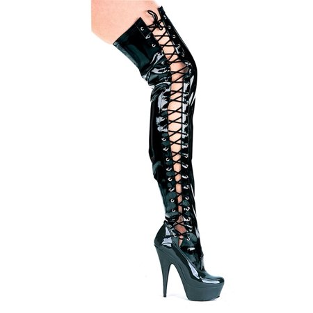 Ferocious 6'' Pointed Stiletto Thigh High stretch Boots
