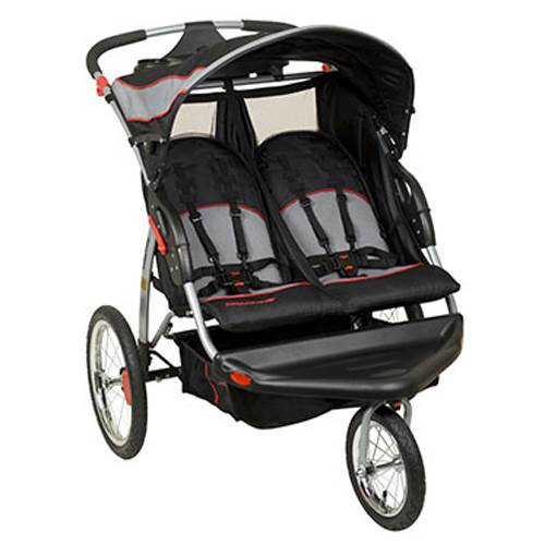 Baby Trend Expedition Swivel Travel Jogging Double Baby Stroller, Millennium Used Double Jogging Stroller