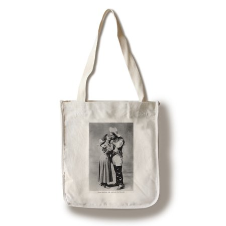 Cowgirl Portrait - Caroline May Blaney with a Young Buffalo Man (100% Cotton Tote Bag - - Cowgirl Backpacks