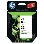 HP 21 Black & HP 22 Tri-color Original Ink, 2 Cartridges (C9509FN)