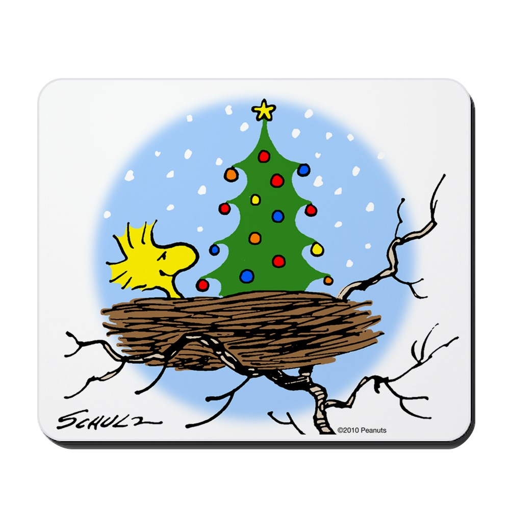 CafePress - Woodstock Christmas - Non-slip Rubber Mousepad, Gaming Mouse Pad