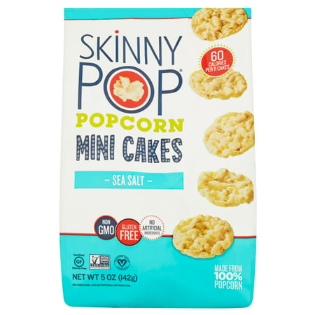 Skinny Pop Popcorn Mini Cak Sea Salt,5 Oz (Pack Of - Mini Popcorn