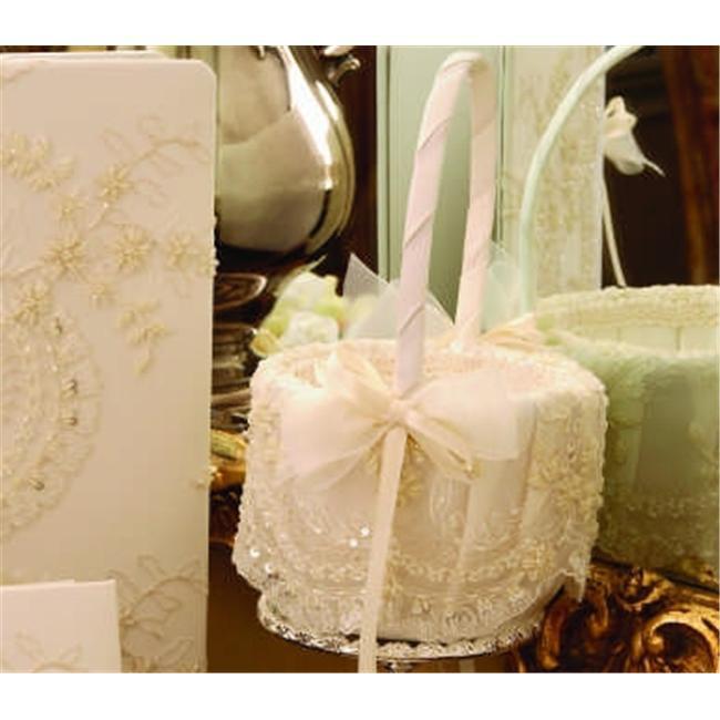 Ivy Lane Design A01120FB/WHT Victorian Flower Girl Basket in White