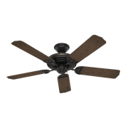 """Hunter 52"""" Sea Air Textured Matte Black Ceiling Fan with Pull Chain"""