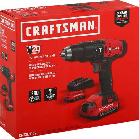Craftsman Tools V20 1/2-in 20-volt Max Variable Speed Cordless Hammer