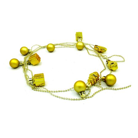 Gold China Garland (Christmas Xmas Bead Chain Garland 3m Gold ideal for Tree Room Decorations Art)