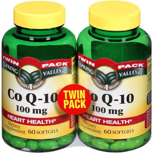 Spring Valley Co Q-10 Dietary Supplement, 100 mg, 60 count, 2 pk