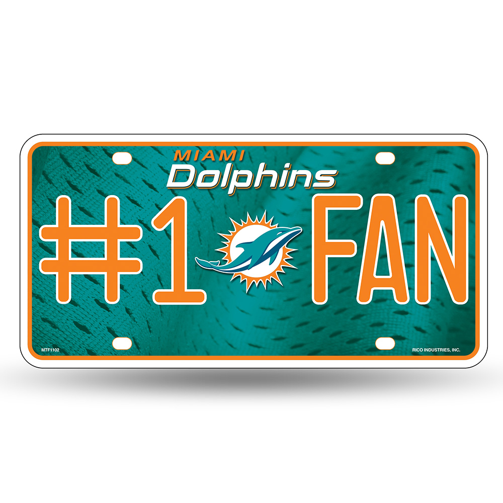 Miami Dolphins NFL Metal Tag License Plate (#1 Fan)