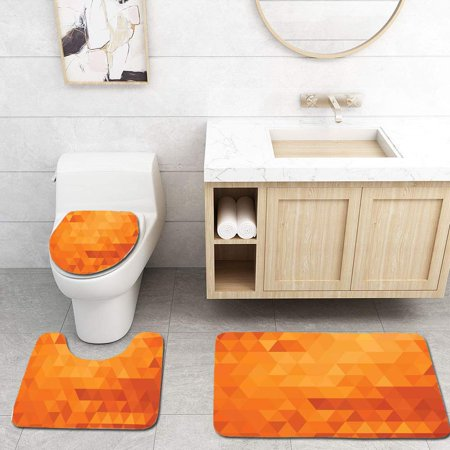 Chaplle Burnt Orange Triangle Mosaic