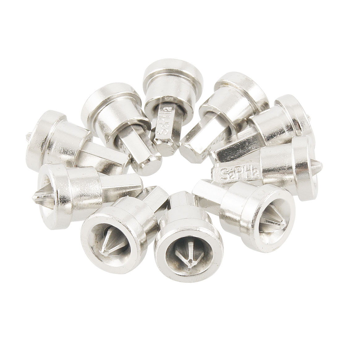 10 Pcs Silver Tone Hex Shank 6mm  Screw Setter Dimpler