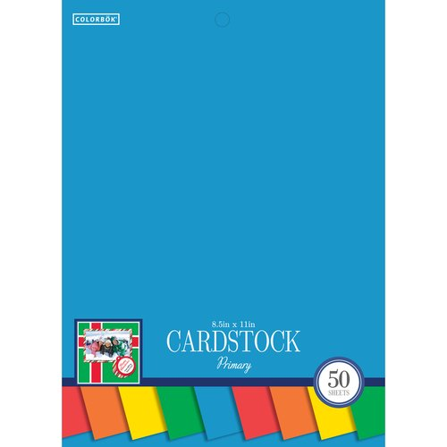 "Colorbok8.5""SmithCardstockPad,Primary"