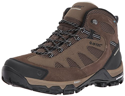 Hi-Tec Men's Riverstone Ultra Waterproof Hiking Boot, Smokey Brown Olive Snow, 10.5 D US by Hi-Tec