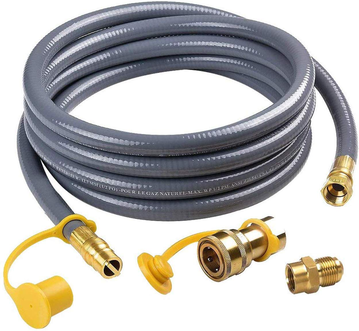 """3//8/"""" Natural Gas Hose with Quick Connect 3//8 Includes Quick Connect 12 FT"""