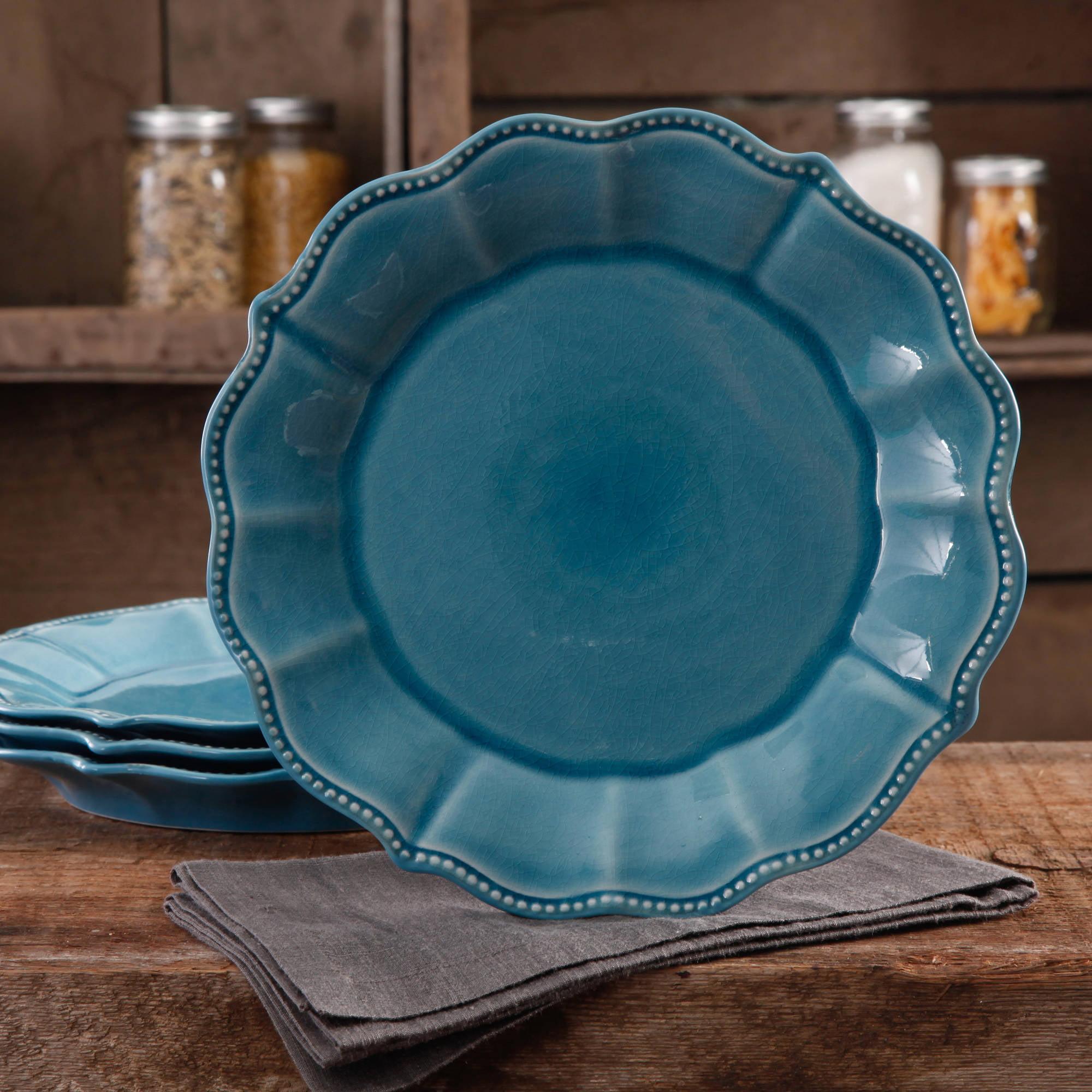 & The Pioneer Woman Paige Crackle Glaze 4-Pack Dinner Plates - Walmart.com