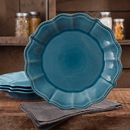 The Pioneer Woman Paige Crackle Glaze 4 Pack Dinner Plates